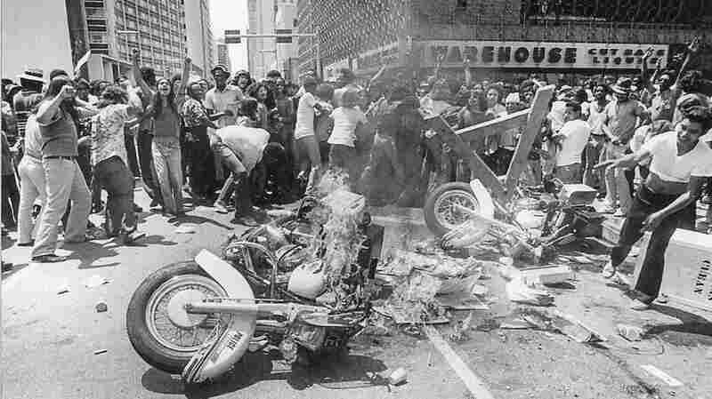 A march following the death of Santos Rodriguez in downtown Dallas on July 28, 1973 erupted in violence. Five police officers were hospitalized and more than 30 people were arrested.