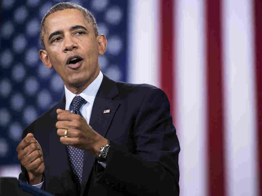 President Obama during his address Wednesday at Knox College in Galesburg, Ill.