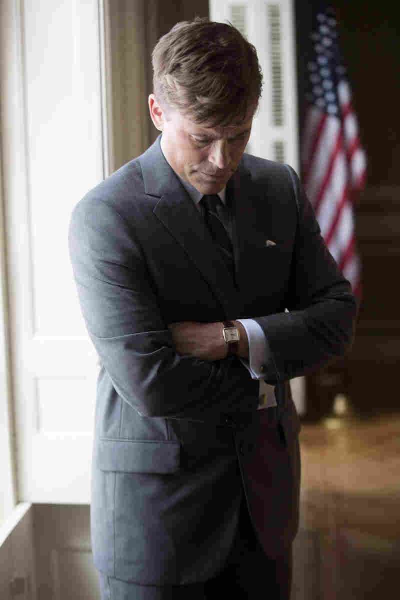Rob Lowe as John F. Kennedy in the National Geographic Channel's film, Killing Kennedy.