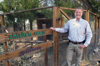 Community Food Bank of Southern Arizona President and CEO Bill Carnegie says the food bank uses this area to teach clients how to raise chickens.