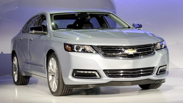 The 2014 Chevrolet Impala, which Consumer Reports says its better than its foreign rivals.