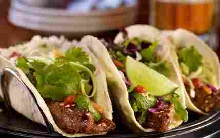 Korean barbecue steak tacos