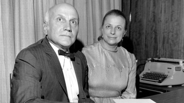 Virginia Johnson and her then-husband, William Masters, in 1972. They studied sexual behavior for decades. She died this week in St. Louis. Masters died in 2001. (AP)