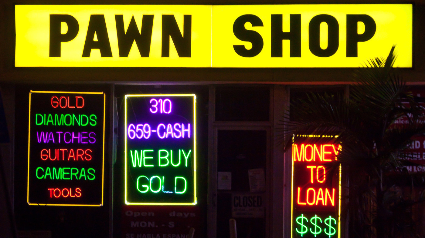 what a falling gold price means for pawn shops planet money npr. Black Bedroom Furniture Sets. Home Design Ideas
