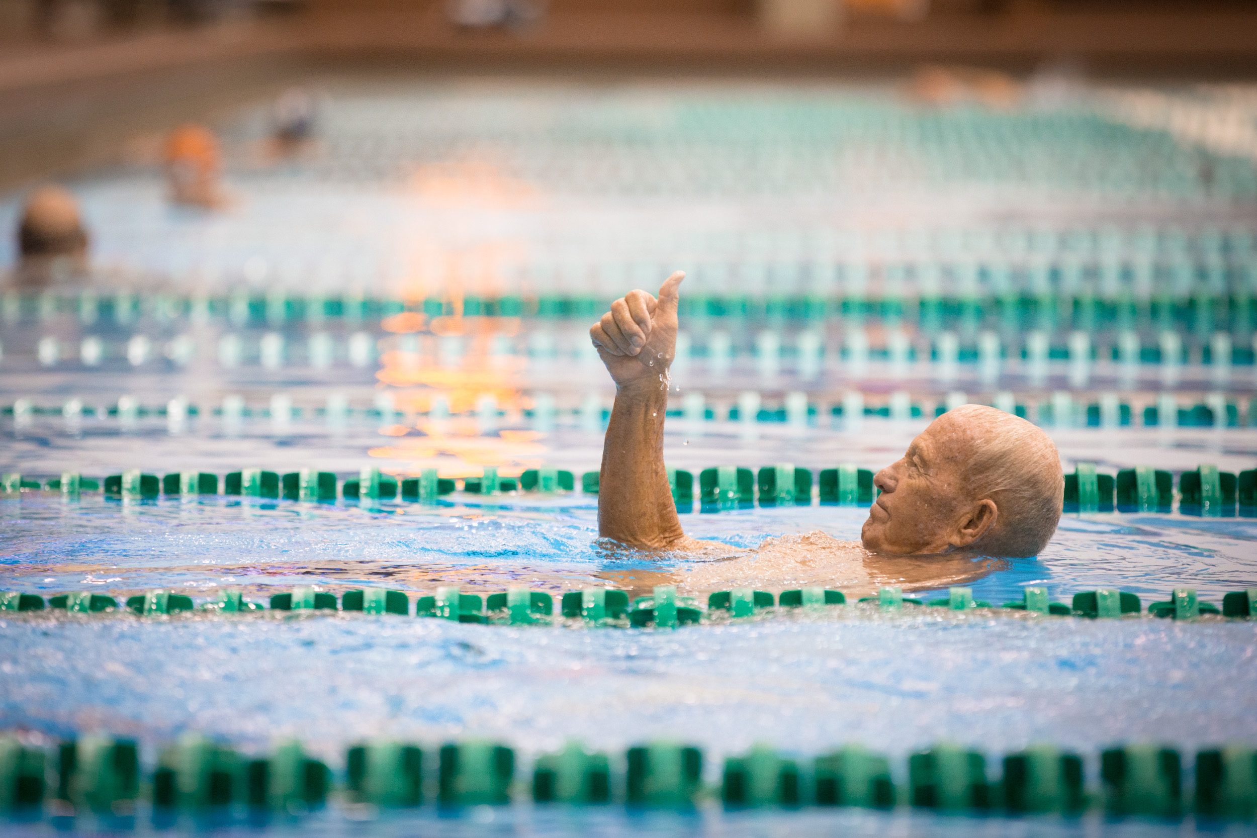 senior swim Our senior water exercise program offers a stress-free time to swim, improve health and fitness by participating in an instructor-led water exercise class, and time to socialize with others, while enjoying the benefits of the water at our indoor pools to register, please visit the pool during.