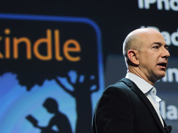 Amazon founder and CEO Jeff Bezos introduces the Kindle Fire in 2011 in New York City.