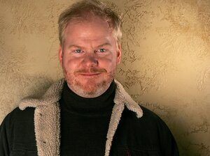 Jim Gaffigan poses during the 2006 Sundance Film Festival in Park City, Utah.
