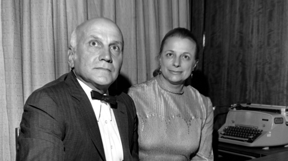 Johnson with her fellow researcher and sometimes husband, William Masters. The pair helped legitimize the study of human sexuality. (AP)