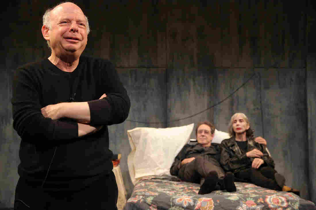 Wallace Shawn (from left), Larry Pine and Deborah Eisenberg make up the cast of The Designated Mourner. Written by Shawn and directed by Andre Gregory, the Public Theater show is a product of one of the longest collaborations in the history of the American theater.