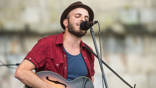 Kingsley Flood performs at the 2013 Newport Folk Festival.