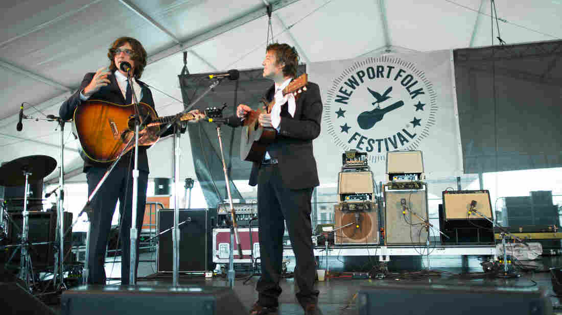 The Milk Carton Kids perform at the 2013 Newport Folk Festival.