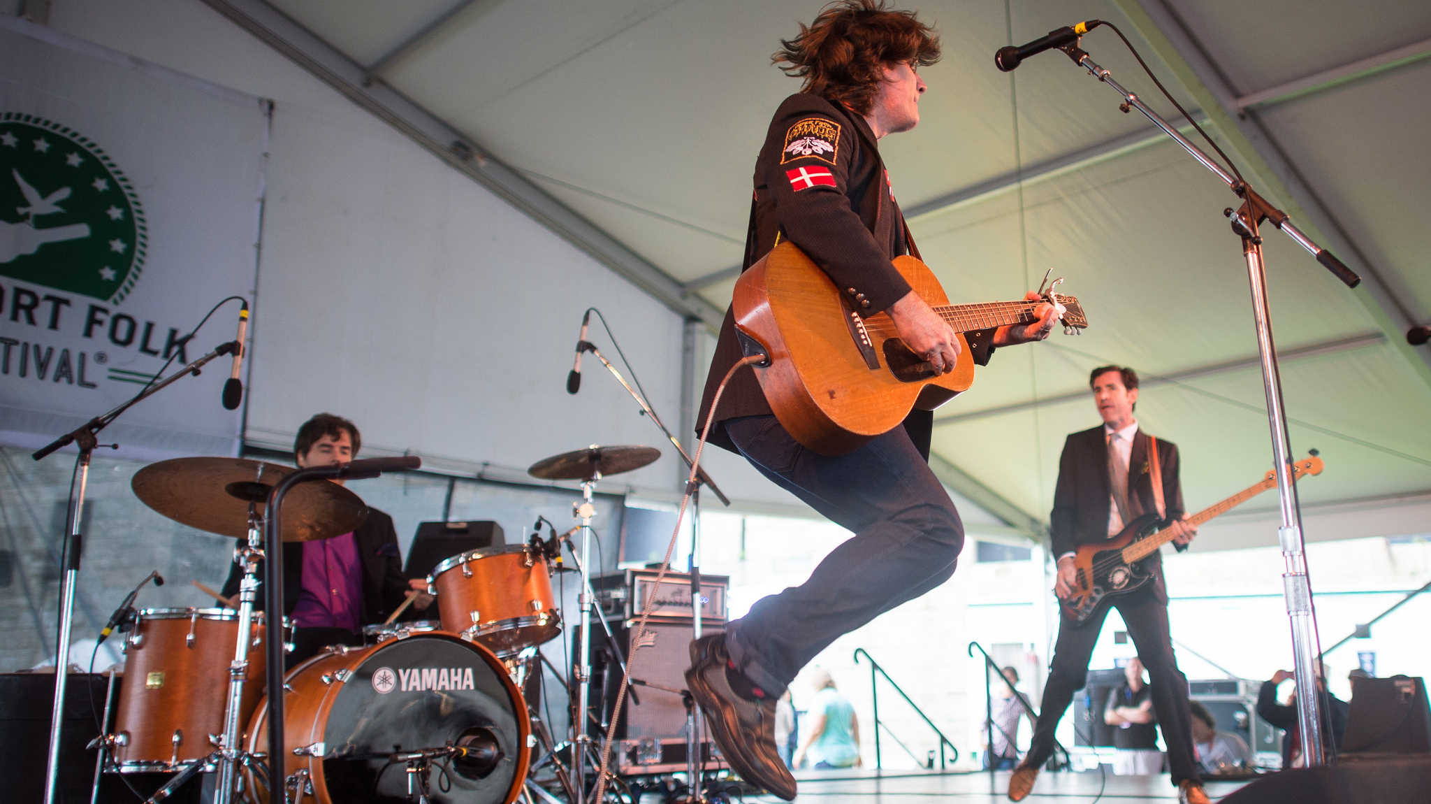 The Mountain Goats performs at the 2013 Newport Folk Festival.