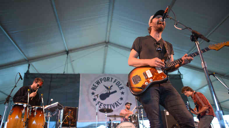 Phosphorescent performs at the 2013 Newport Folk Festival.
