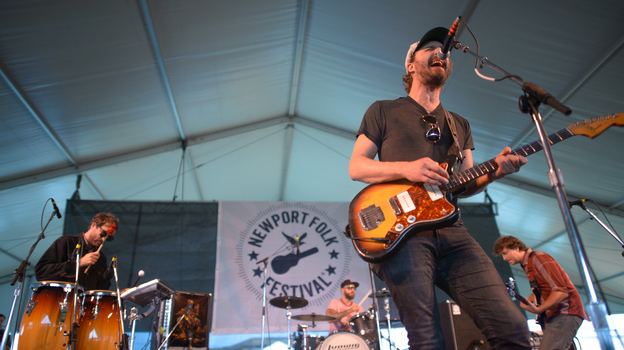Phosphorescent performs at the 2013 Newport Folk Festival. (NPR)