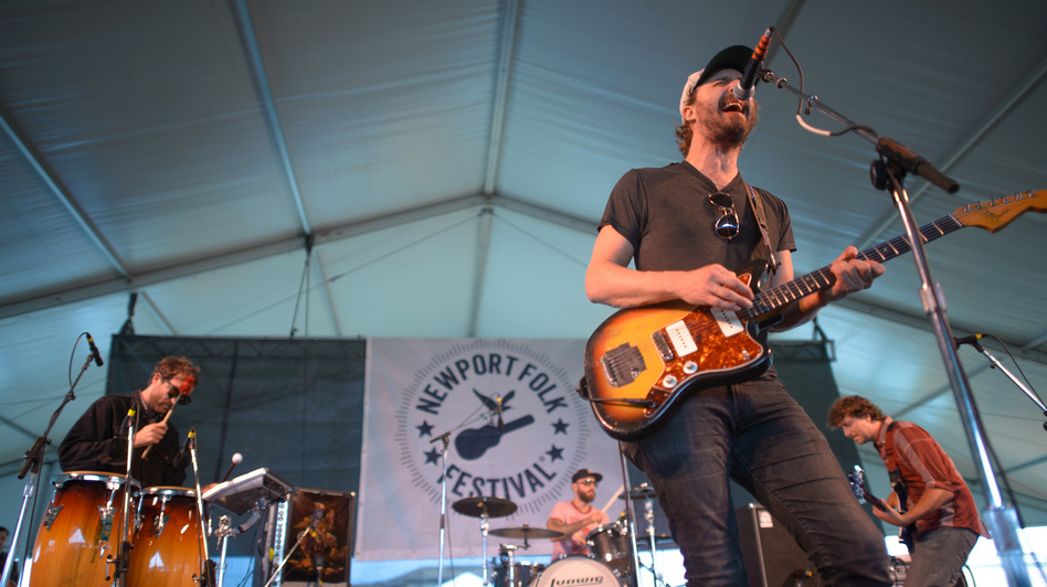 Phosphorescent performs at the 2013 Newport Folk Festival. (NPR)