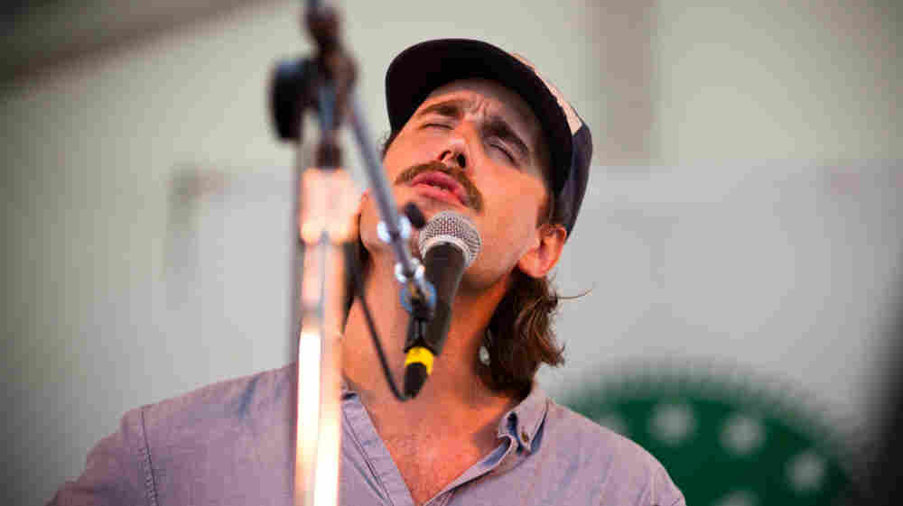 Rayland Baxter performs at the 2013 Newport Folk Festival.