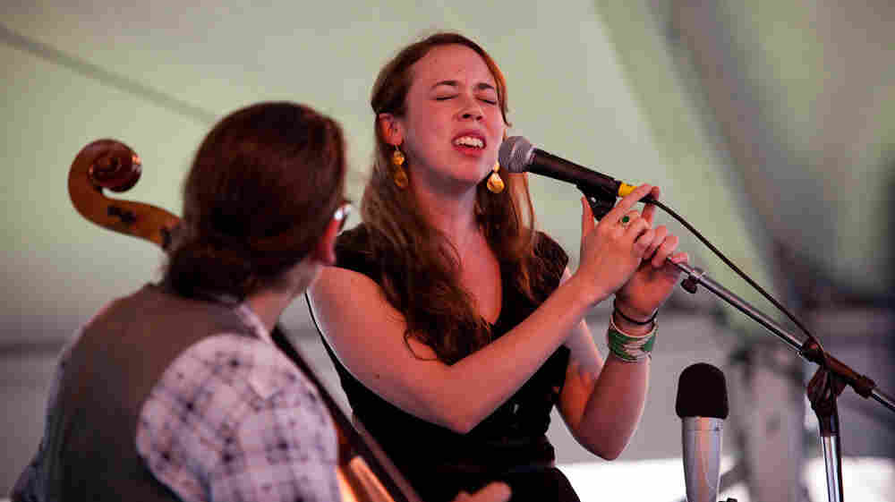 Sarah Jarosz performs at the 2013 Newport Folk Festival.