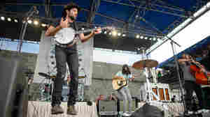 The Avett Brothers perform at the 2013 Newport Folk Festival.