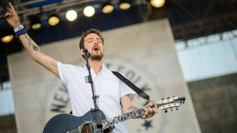 Frank Turner & The Sleeping Souls performs at the 2013 Newport Folk Festival.