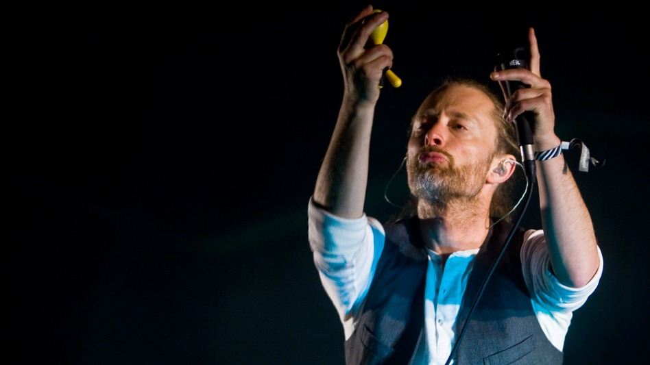 Thom Yorke of Radiohead and Atoms for Peace is one of many musicians concerned with Spotify's small royalty payments. (Getty Images)