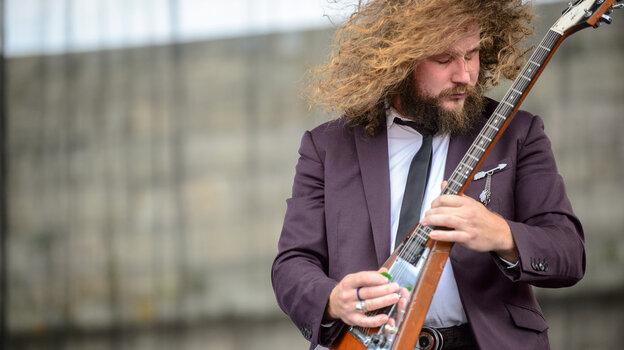Jim James performs at the 2013 Newport Folk Festival.