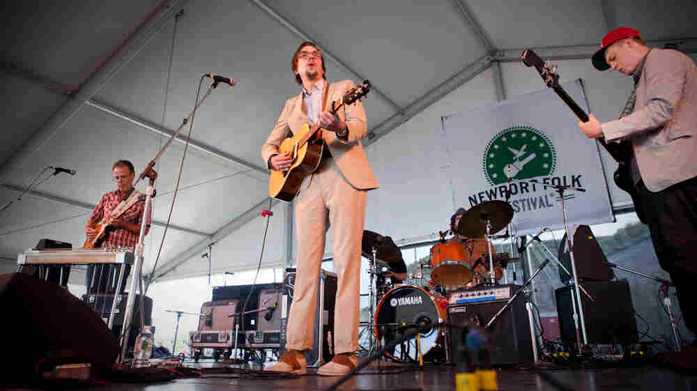Justin Townes Earle performs at the 2013 Newport Folk Festival.