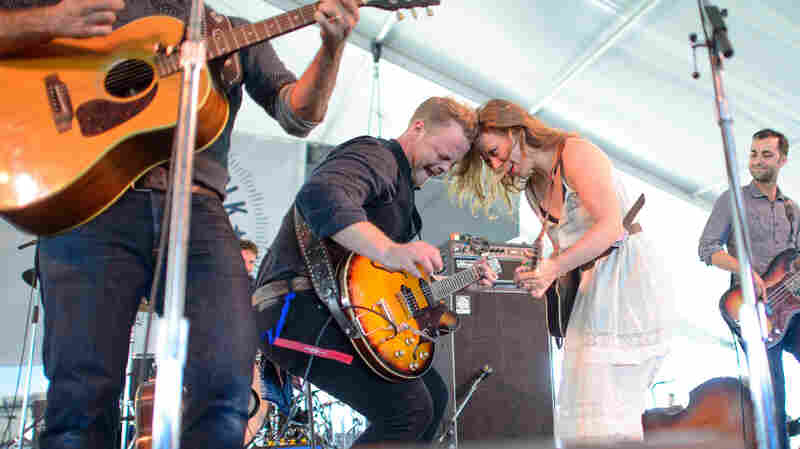 The Lone Bellow performs at the 2013 Newport Folk Festival.