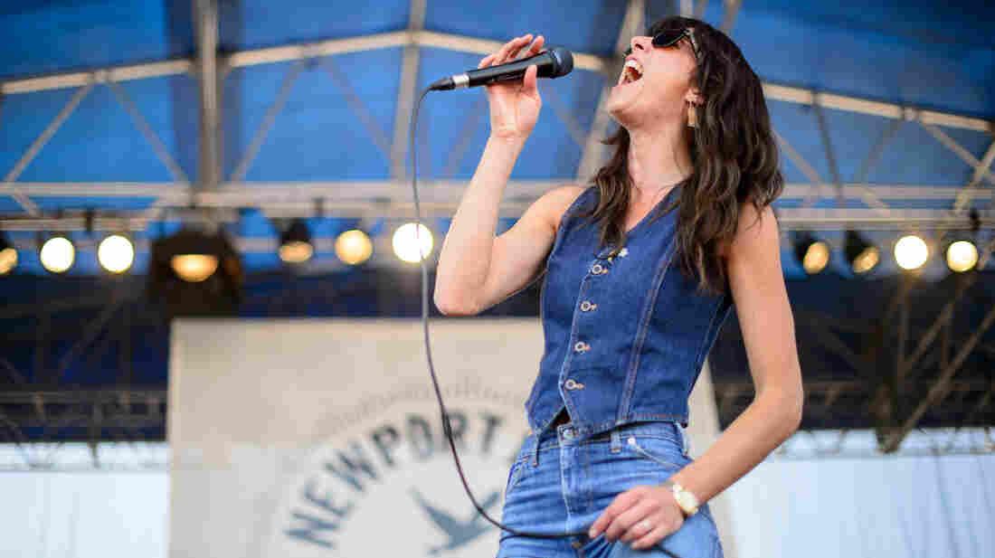 Nicki Bluhm & The Gramblers performs at the 2013 Newport Folk Festival.