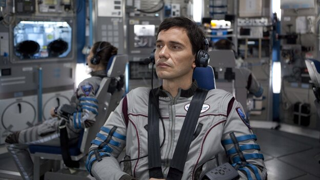 Daniel Luxembourg (Christian Camargo) is chief scientist on a doomed mission to one of Jupiter's moons in Europa Report, a fou