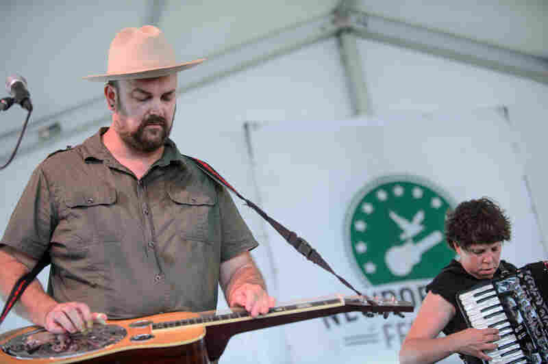 Members of The Decemberists kick it old-time style as Black Prairie.