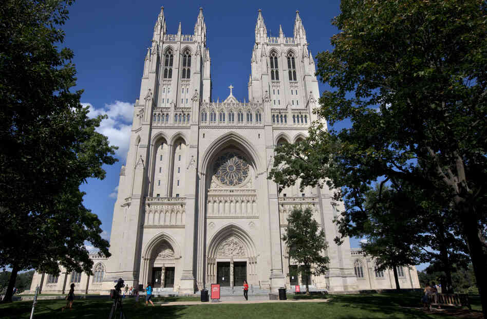 Green paint was discovered in two chapels inside the National Cathedral in Washington on M