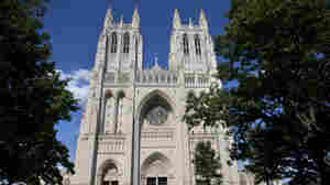 Green paint was discovered in two chapels inside the National Cathedral in Washington on Monday.