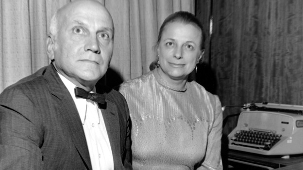 Human sexuality researchers William Masters and Virginia Johnson Masters, shown in San Francisco in 1972. (AP)
