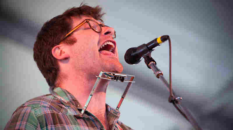 Colin Meloy performs at the 2013 Newport Folk Festival.