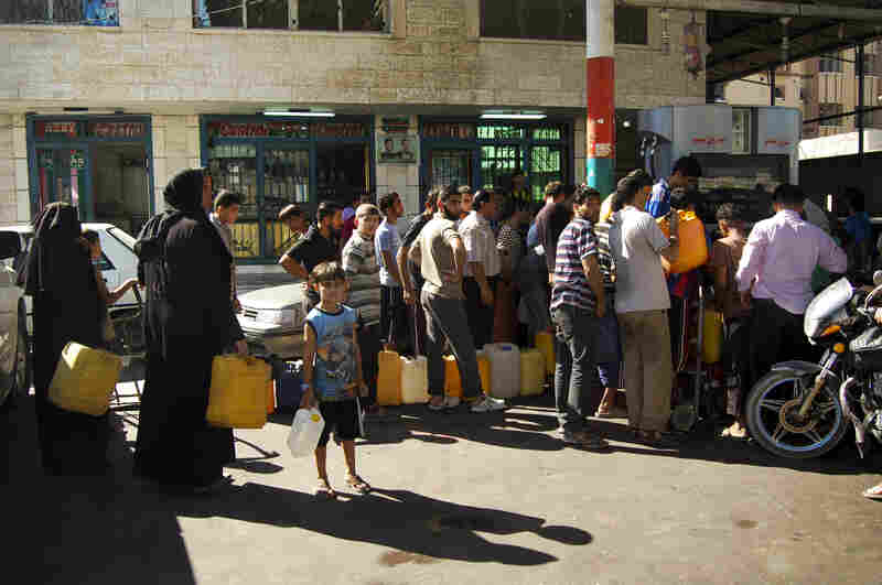 A U.N. official says fuel is the commodity to watch closest: It is in great demand and many cannot afford to buy expensive Israeli fuel.