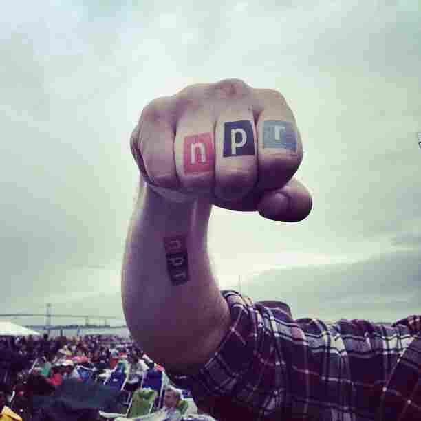 NPR temporary tattoos