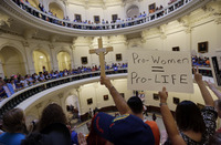 Texas, where abortion-rights battles took place in July at the state capitol, is part of an eight-state region that has gotten more conservative on the issue.