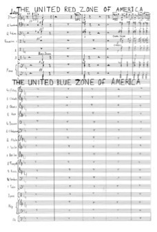 A page from the score of In the Shadow Of No Towers.
