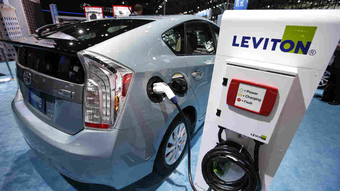The Toyota Prius, seen here at the New York International Auto Show in March, was one of the cars security experts Chris Valasek and Charlie Miller showed to be susceptible to attacks by hackers.