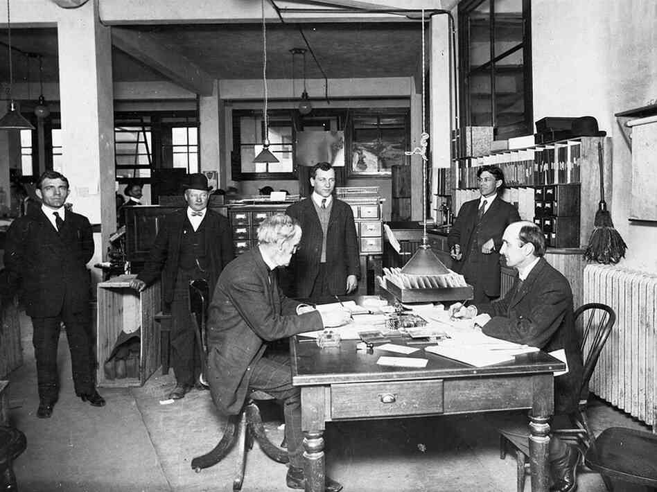 City contract office, 1908