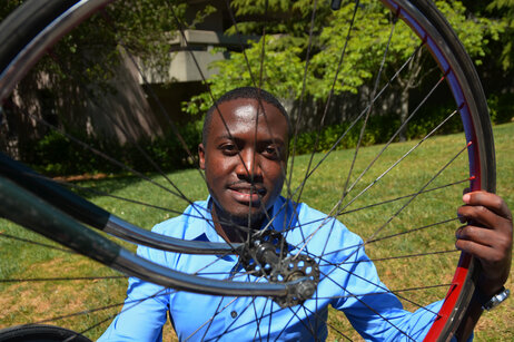 Chris Ategeka started a nonprofit to help villagers in rural Uganda build their own bikes.