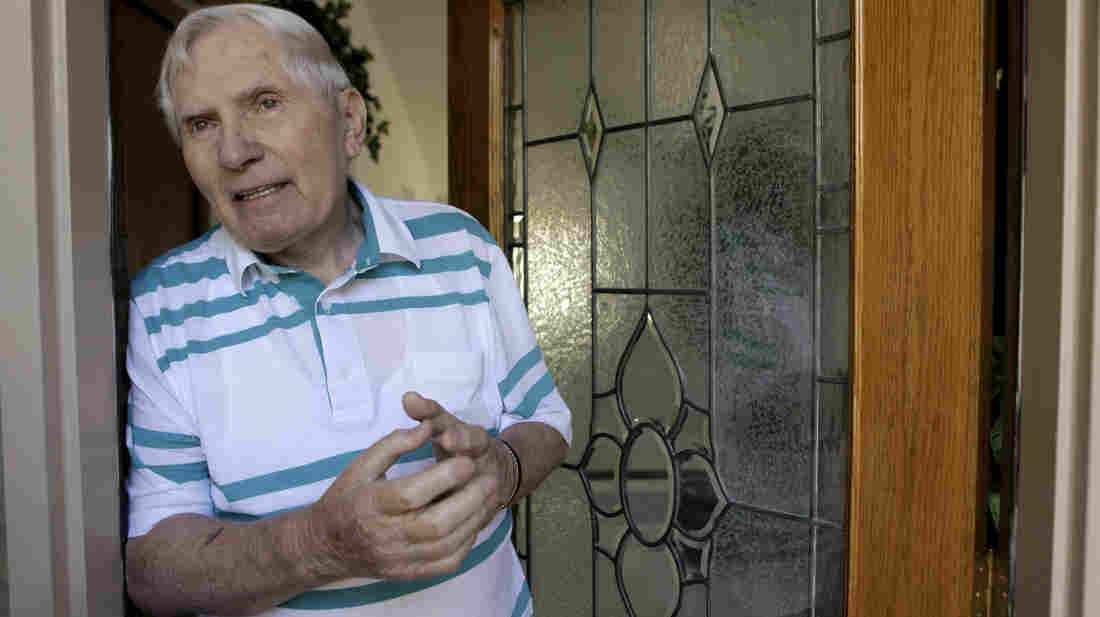 John (Ivan) Kalymon talks about his deportation outside his Troy, Mich., home in this 2009 photo. Kalymon is one of at least 10 suspected Nazi war criminals who remains in the United States despite attempts to deport him.