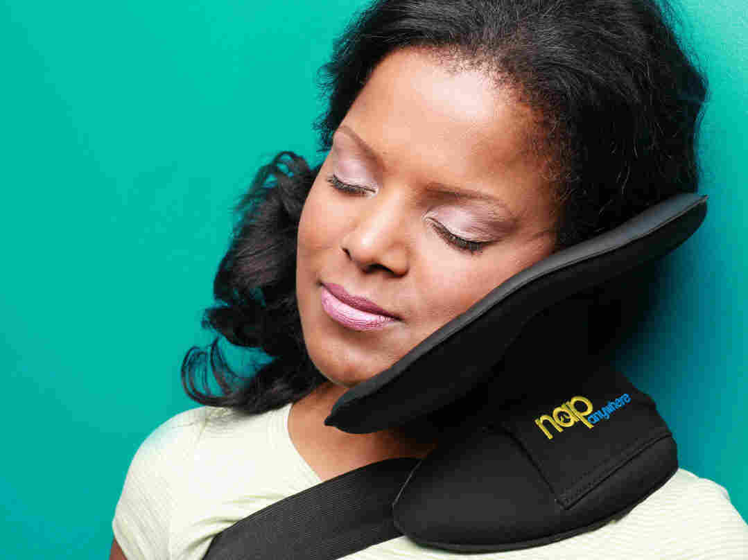 The Nap Anywhere is a new, portable head-support pillow created by a Virginia-based physician.