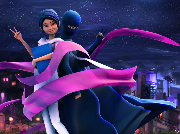Mild-mannered teacher by day, masked superhero by night, the Burka Avenger fights corruption and oppression, and aims to empower the girls of Pakistan.