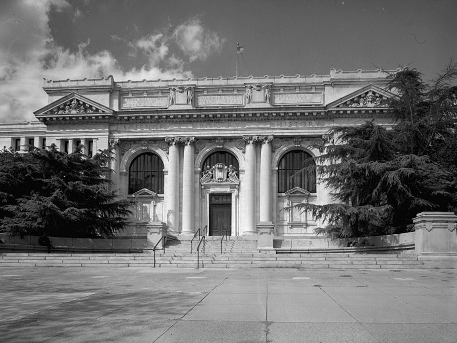 "The Carnegie Library in Washington, D.C., dates back to 1903. Paul Dickson, author of The Library in America, says this library was ""one of the first really beautiful public buildings"" in the city."