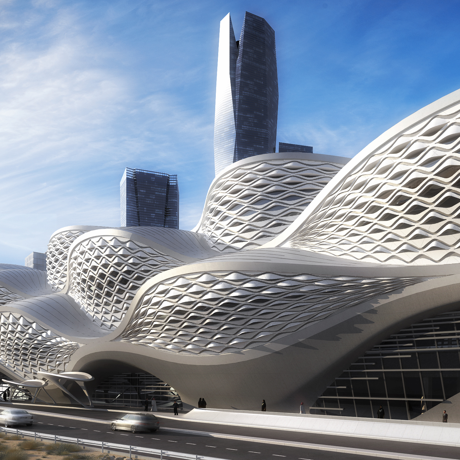 Designed by Pritzker prize-winning architect Zaha Hadid, the King Abdullah Financial District Metro Station will serve as a key interchange on the new Riyadh subway network.