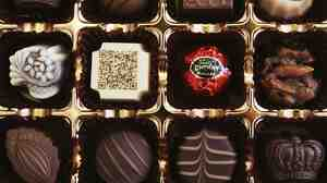 A box of chocolates from Tokyo, Japan.