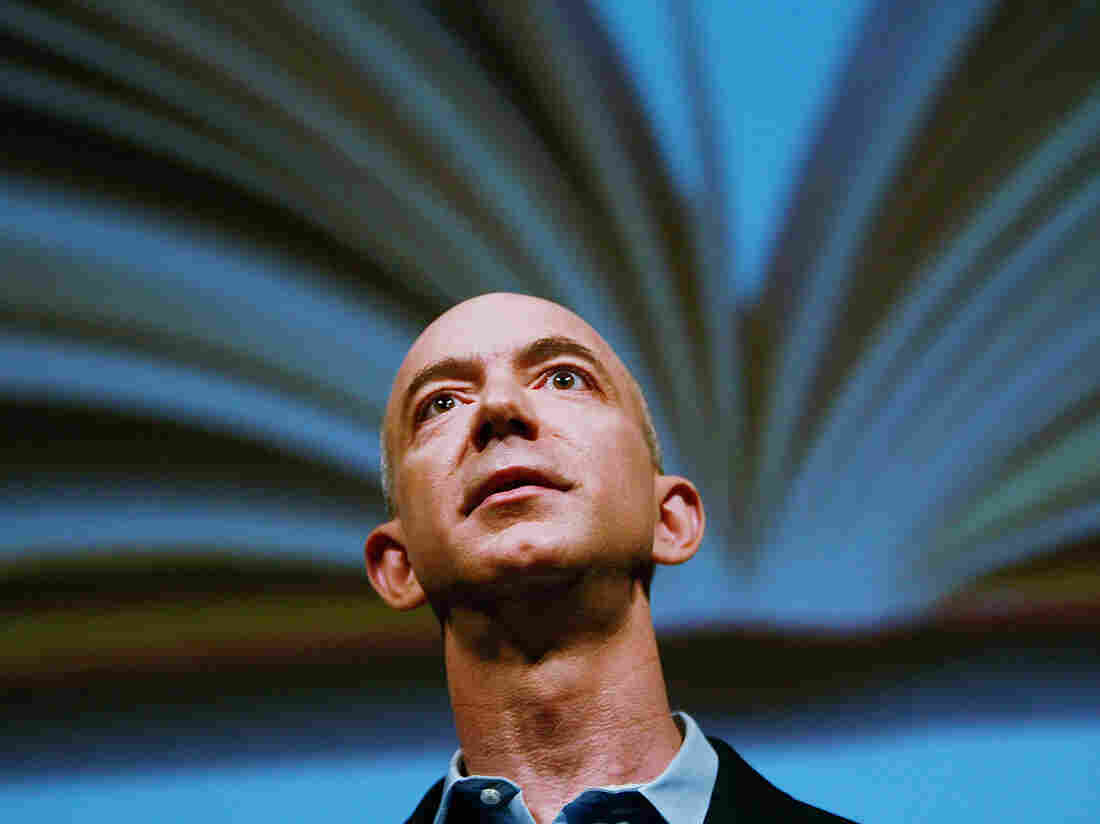 Amazon.com founder and CEO Jeff Bezos speaks in 2009 in New York City.