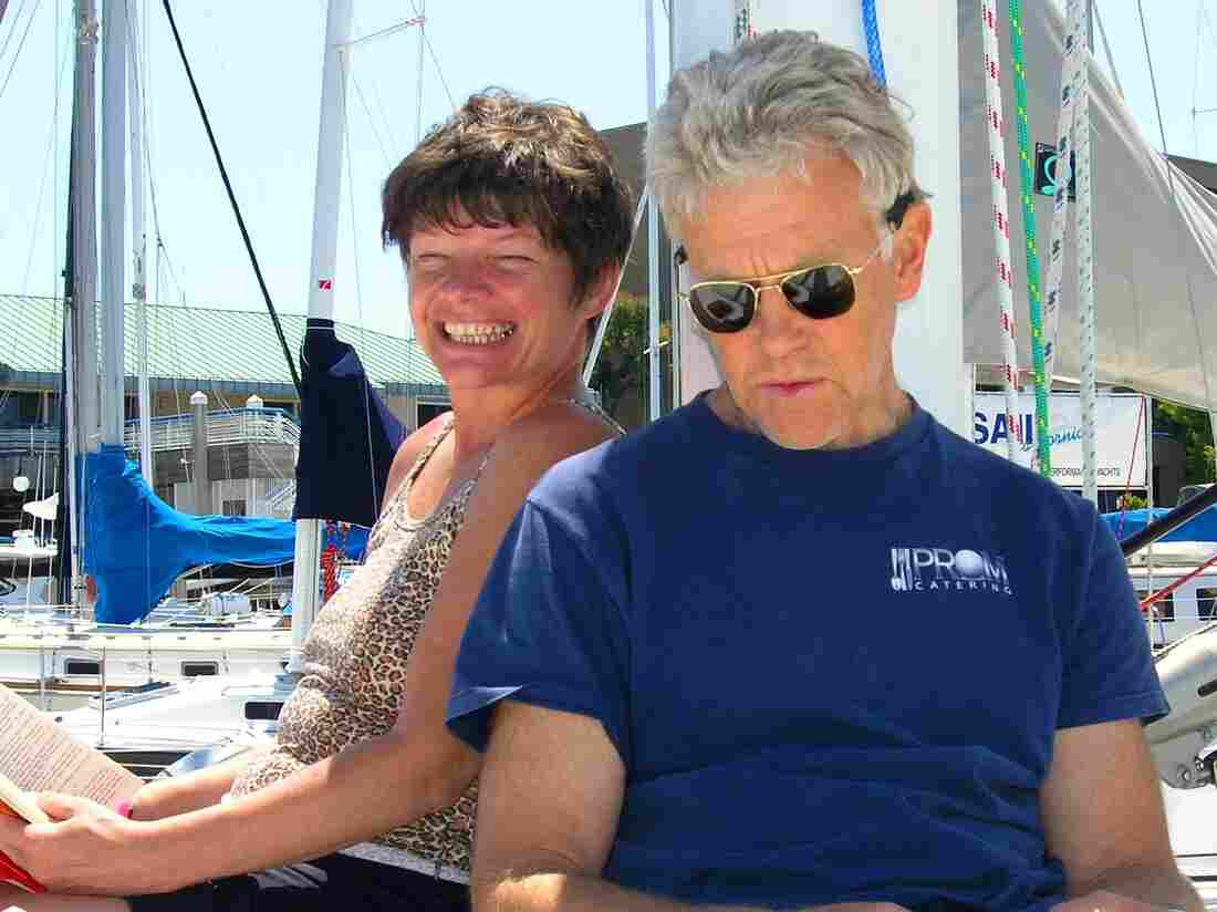 Phyllis Macay and Bob Riggle, on a yacht in Bodega Bay, Calif., in 2005. The two were part of a group hijacked by Somali pirates off the coast of Oman in February 2011.