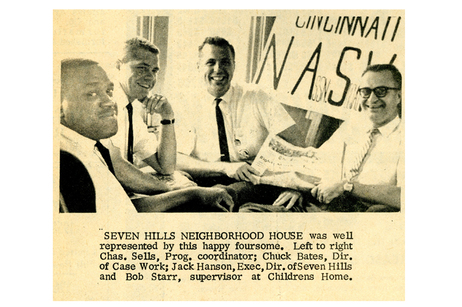 A newspaper clipping from The Cincinnati Herald on Sept. 14, 1963, included a picture of Jack Hansan and other members of the Cincinnati delegation.